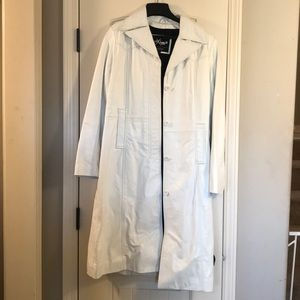 Vintage Wilsons White leather trench coat